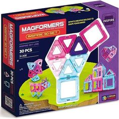 Let kids build a world of their own with the Magformers Inspire Set. This set comes with different coloured shapes that connect using neodymium rare-earth magnets. All pieces are made from BPA-free plastic for safe and creative fun. Short Women Fashion, Rare Earth Magnets, Building For Kids, Gross Motor Skills, Teal Colors, Bright Colours, Pastel Colors, Paint Set, Triangle Shape