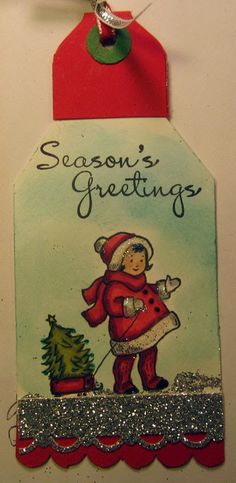 Greeting Card Kids Tag and tutorial  Stampin' Up!