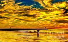 Sunset Walk On The Shore by Nick Zelinsky