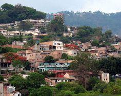 Tegucigalpa, Honduras. Very typical Teguc, although this looks a little bit nicer than the rest