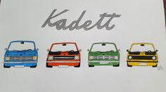 Opel Kadett B Rallye Gang Oldtimer Oldschool Race Sport Cool Auto Car Tuning Drawing Comic Gearhead Schrauber
