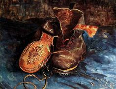Vincent van Gogh: A Pair of Shoes. Oil on canvas. Paris, 1887. Baltimore: The Baltimore Museum of Art.
