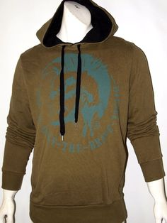 Diesel only the brave contrast mohawk hoodie men's size large NEW on SALE…