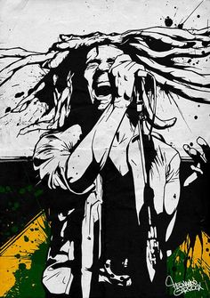 *Bob Marley* More fantastic streetart, pictures and videos of *Bob Marley* on… Bob Marley Kunst, Bob Marley Art, Bob Marley Painting, Reggae Art, Reggae Music, Rasta Art, Bob Marley Pictures, Graffiti, Nesta Marley