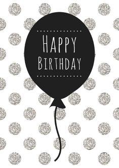 Birthday Quotes : verjaardagskaarten verjaardagskaart-ballon-w. Happy Birthday Beautiful, Best Birthday Wishes, Happy Birthday Pictures, Birthday Wishes Quotes, Happy Birthday Messages, Birthday Love, Happy Birthday Greetings, Birthday Greeting Cards, Humor Birthday