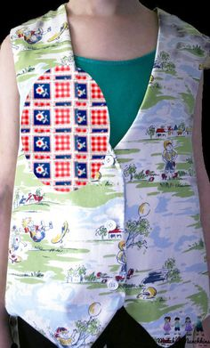 Vest Boy GIrl Red White Blue Floral Check Memorial Day Fourth of July July 4th Handmade Custom Sibling Outfits Twins Best Friend Formal  Custom