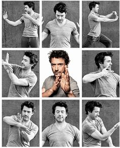 Robert Downey Jr...He practices martial arts...Yes that makes him even more hot. lol
