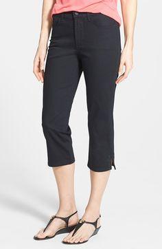 Petite Women's NYDJ 'Ariel' Stud Trim Stretch Crop Jeans