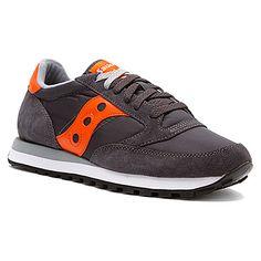 Saucony Jazz Original found at #ShoesDotCom Orange/Charcoal men's 8.5