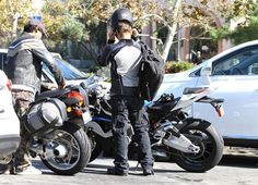 Jeremy Renner Jumps in His Motorcycle 10