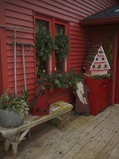 earthy comfy casual christmas porch outdoor christmas decorations primitive christmas country christmas - Primitive Christmas Porch Decor