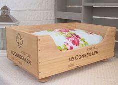 Wooden cat bed wine crate-wine lover by BaxterandSnowwinebox