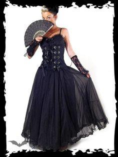 """Robe Gothique """"Black Laced"""" - L"""