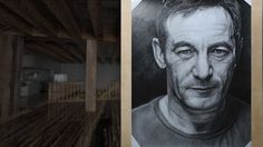 """#JasonIsaacs  Features  - Graphite pencils on paper 180g / 0.40lbs - Signed by the artist Measurements  - 55 x 69 cm / 22"""" W x 27"""" H Inch"""