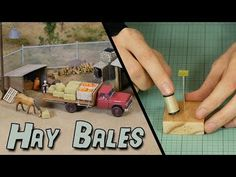Super detailing a model scene doesn't have to be hard… With these easy to make hay bales you'll turn the most basic diorama into an ultra-realistic scene! Popular Hobbies, Great Hobbies, Model Training, Train Table, Hay Bales, Model Train Layouts, Classic Toys, Scenery, Grass