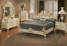 Grand-Infinity-Cherry-Bedroom-Set-Queen-5pc-w-Chest-Free-Shipping ...