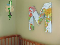 DIY wall map letter