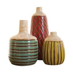 Rio Franco Ceramic Vases - Set of 3