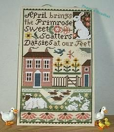 April by The Prairie Schooler.  I hope to stitch this one day.
