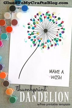 Free Printables For Your Walls - Thumbprint Dandelion Free Printables - Best Free Prints for Wall Art and Picture to Print for Home and Bedroom Decor - Ideas for the Home, Organization - Quotes for Bedroom and Kitchens, Vintage Bathroom Pictures - Downloadable Printable for Kids - DIY and Crafts by DIY JOY http://diyjoy.com/free-printables-walls