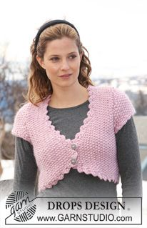 Free knitting patterns and crochet patterns by DROPS Design Drops Design, Drops Patterns, Knit Patterns, Crochet Woman, Knit Crochet, Free Knitting Patterns For Women, Knit Vest Pattern, Shrugs And Boleros, Knit Shrug