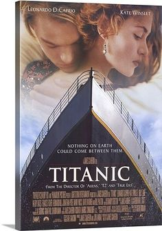HTD Canada - Titanic Movie Poster 27 x 40 - Titanic is a 1997 American epic romantic disaster film directed, written, co-produced, and co-edited by James Cameron. A fictionalized account of the sinking of the RMS Titanic, it stars Leonardo DiCaprio and Ka Leonardo Dicaprio Kate Winslet, Iconic Movies, Old Movies, Classic Movies, Great Movies, Iconic Movie Posters, Amazing Movies, Famous Movies, Movies Free