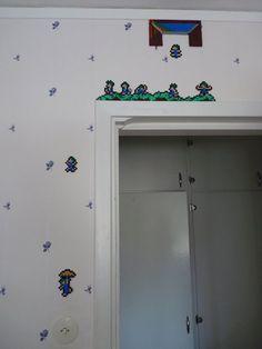 My lemmings wall, hama perlers by ~RealPife on deviantART