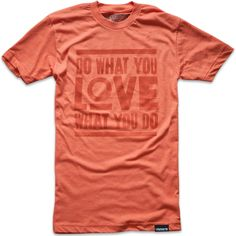 """Do what you love"" typo tee"