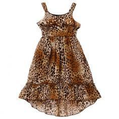 Girls Leopard Print Dress--- so gorgeous!