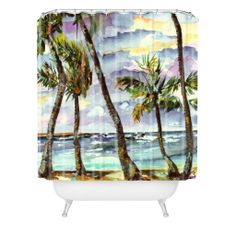 Ginette Fine Art Bahamas Breeze Shower Curtain | DENY Designs Home Accessories