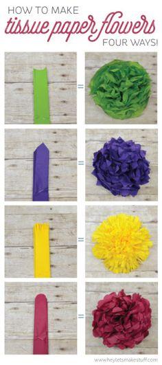 Saitec 12pcs mixed sizes white aqua blue tissue paper pom poms how to make tissue paper flowers four ways mightylinksfo