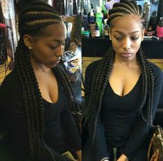 40 Super Cute And Creative Cornrow Hairstyles You Can Try Today - EcstasyCoffee African Braids Hairstyles, Down Hairstyles, Girl Hairstyles, Braided Hairstyles, Fashion Hairstyles, Hairstyles 2018, Protective Hairstyles, Summer Hairstyles, Curly Hair Styles