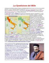 Breve riassunto degli avvenimenti accaduti nella spedizione dei Mille e l' analisi della figura di Garibaldi