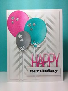 Balloon dies: Simon Says Stamp, stencil, #SSSFAVE,  by beesmom - Cards and Paper Crafts at Splitcoaststampers
