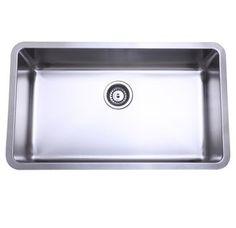 "View the Kingston Brass GKUS3018 30"" Undermount 18 Gauge Single Basin Stainless Steel Kitchen Sink at Build.com."