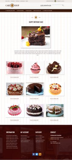 Product Category for Cake Shop Themes www.devilthemes.com