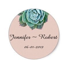 Shop Blush Succulent Wedding Envelope Seals created by NoteableExpressions. Cactus Stickers, Round Stickers, Blooming Succulents, Wedding Envelopes, Tent Cards, Day Up, Diy Gifts, Custom Stickers, Seals
