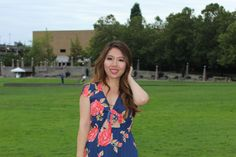 Flirty Floral Tie Front Cutout Dress