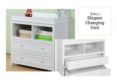 Baby Changing Unit Furniture Table Station Shelves Drawers Infant Kids Nursery