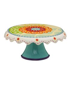 Another great find on #zulily! Proud Peacock Cake Stand by Cypress Home #zulilyfinds