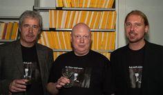 """Die beiden Herausgeber des """"Dr. Mabuse""""-Hörbuchs, mit dem Sprecher des Hörbuchs, Volker Niederfahrenhorst!"""