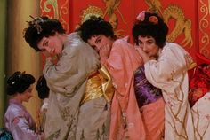 Again, the colors. Topsy-Turvy. The movie about Gilbert and Sullivan and their comic operetta The Mikado.
