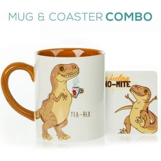AmazonSmile: Tabby Cat Mug & Coaster Gift Set - Unique Hand Painted Novelty 3D Orange Kitty Ceramic Tea Coffee Mugs Gifts. Includes Cute Coaster With a Fun Home is where the Cat is Phrase: Kitchen & Dining Cute Coasters, Ceramic Coasters, Gifts In A Mug, Gift Mugs, Dinosaur Mug, Cute Birthday Gift, Best Coffee Mugs, Unique Cats, Cool Mugs