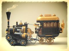 Steampunk Meat Wagon And Hunting Party — BrickNerd - Your place for all things LEGO and the LEGO fan community Steampunk Lego, Steampunk Design, Legos, Hunting Party, Lego Trains, Lego Military, Lego Mecha, Lego Worlds, Cool Lego Creations