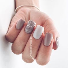59 natural summer nails design for short square nails 33 Stylish Nails, Trendy Nails, Cute Nails, Hair And Nails, My Nails, Short Square Nails, Square Gel Nails, Nagellack Trends, Dipped Nails