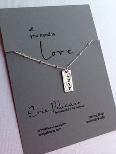 XOXO Sterling Silver necklace. Love necklace. Valentines Day by erinpelicano on Etsy