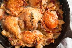 Pan-Roasted Chicken With Bacon & Apple  #justeatrealfood #thezenbellycookbook #dranthonygustin