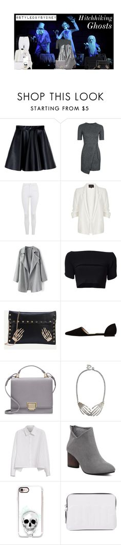 """The Hitchhiking Ghosts ; HAUNTED MANSION"" by styledbysydney ❤ liked on Polyvore featuring Disney, MSGM, Topshop, River Island, T By Alexander Wang, MANGO, Smythson, Y's by Yohji Yamamoto, Casetify and 3.1 Phillip Lim"