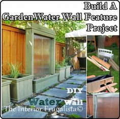 The Homestead Survival | Build A Garden Water Wall Feature Project | http://thehomesteadsurvival.com