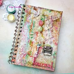 Earlier this year, I dabbled with grunge Finnabair style altered paintbrush ,. Mix Media, Mixed Media Cards, Arts And Crafts, Paper Crafts, Journal Covers, Mini Books, Altered Art, New Art, Shabby
